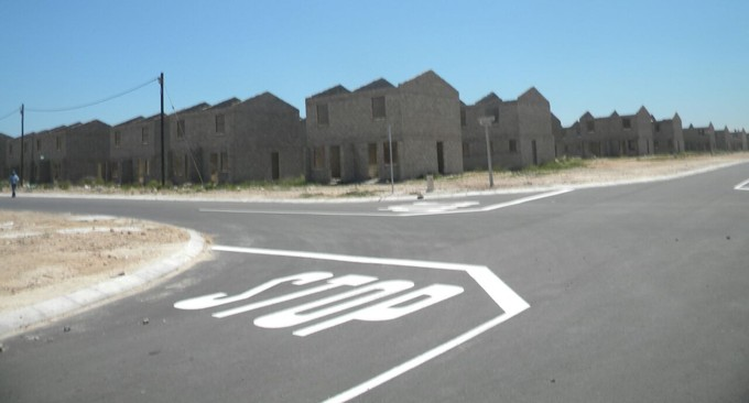 These houses in Motherwell, built by the Nelson Mandela Bay Municipality, need to be demolished. Photo: Joseph Chirume